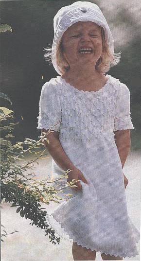 детское платье с буфами.