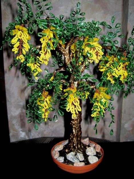 свой цитатник или сообщество!  Деревья из бисера- 55 шт. (для Ольги из...