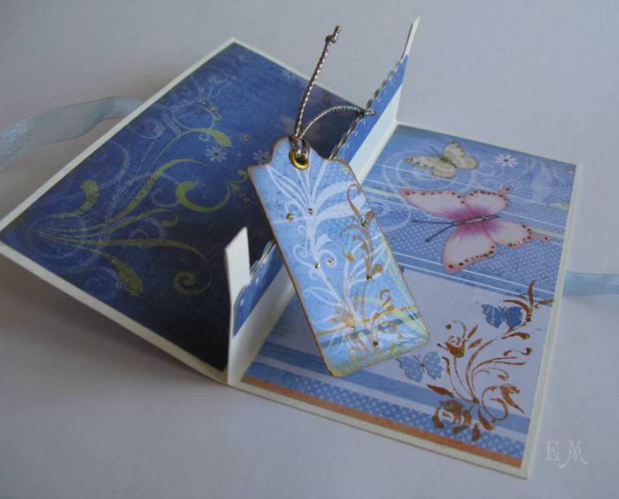 скрапбукинг открытки с конвертом внутри для