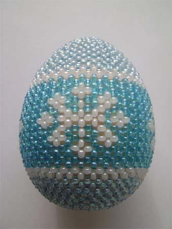 Яйца из бисера мастер класс шапка мономаха пошаговый #10
