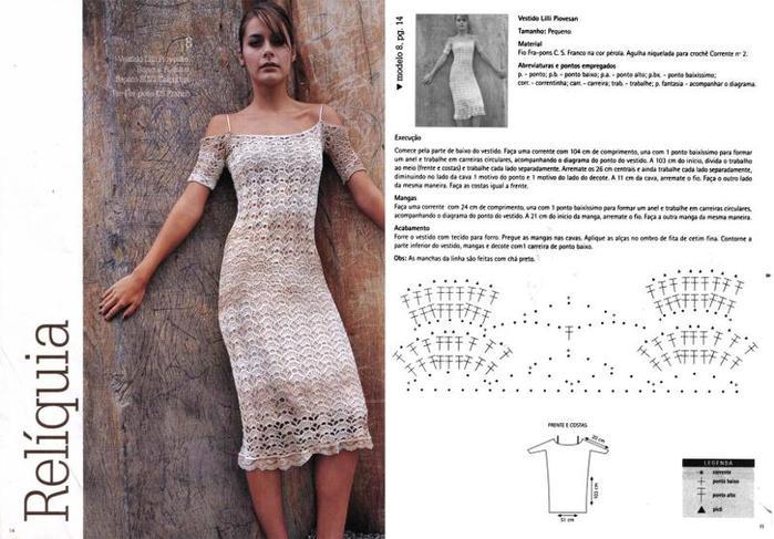 Ажурная схема для платья. источник.