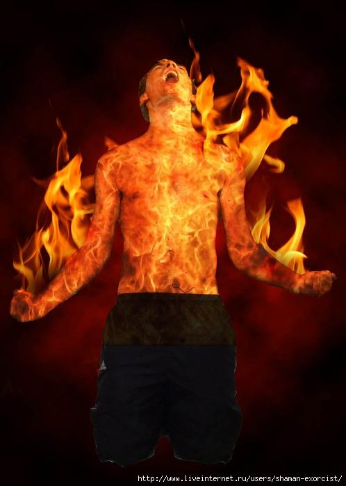 картинки огонь на теле овальной форме