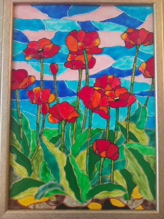Картинки из пластилина по стеклу