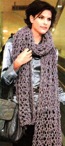Вязание шарфов спицами на knitka.ru, вязание спицами.