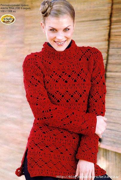 Комментарий: вязаные свитера крючком фото - Кофта.