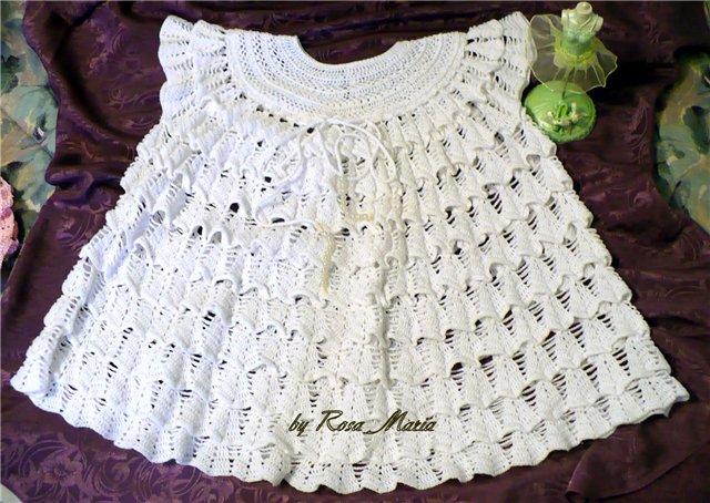 ажурное платье крючком для девочки схема. схема платья для девочки...