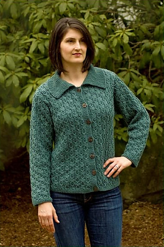 Cable and Lace Cardigan (W215) by Melissa Leapman (450x670, 114Kb)
