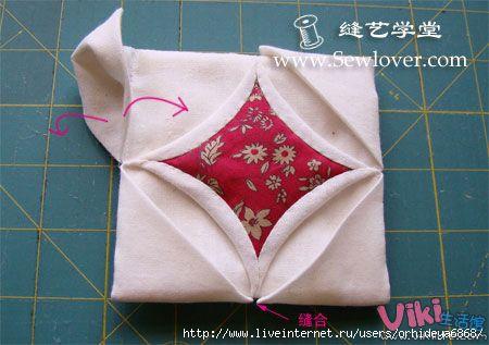 Лоскутное шитье для начинающих - подушечка игольница своими руками...