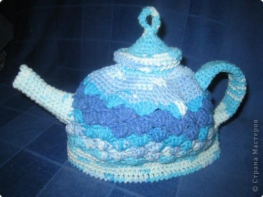Игрушка Вязание крючком: Грелки на чайник Нитки.  Фото 1.