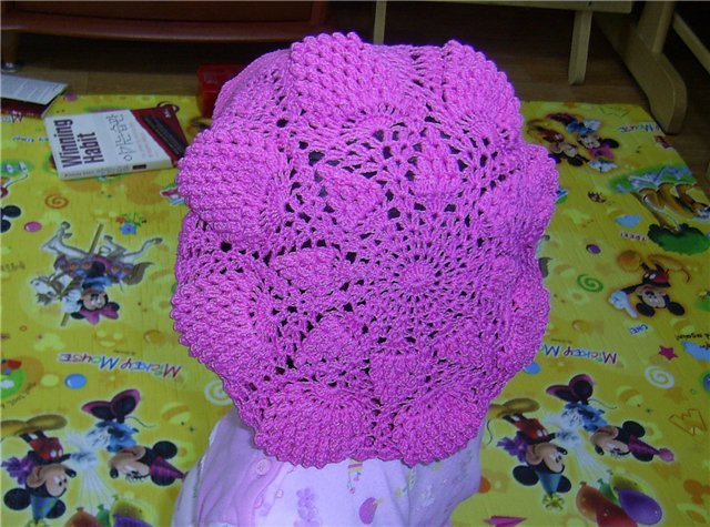 Вязание крючком ажурного берета Вязание спицами и крючком.