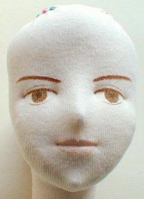Создаем лицо текстильной кукле Журнал Ярмарки Мастеров