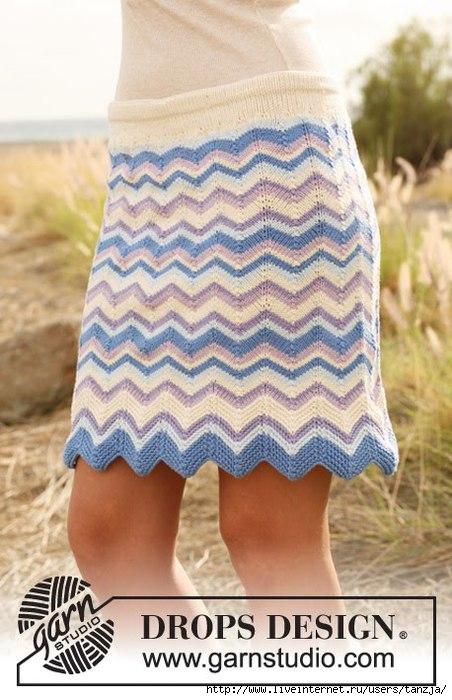вязаная юбка спицами для начинающих - Выкройки одежды для детей и...