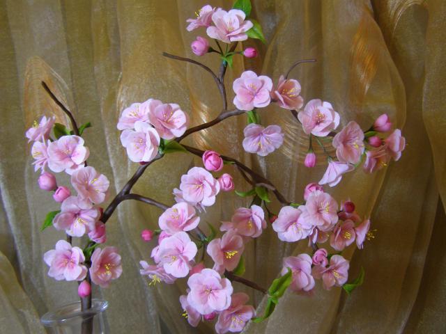 Как сделать цветок на веточке 21