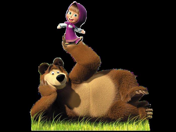 картинки без фона маша и медведь