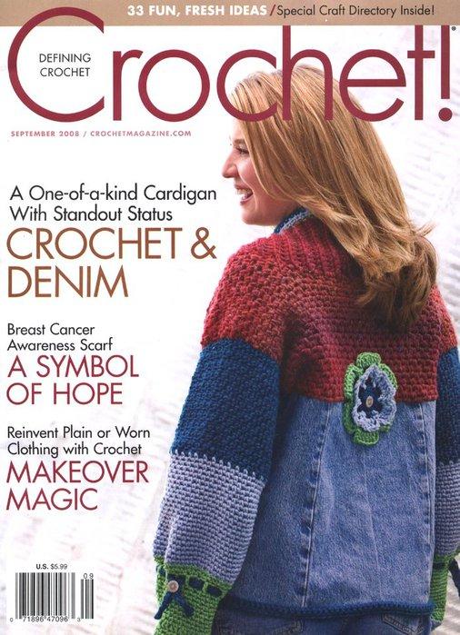 Журнал по вязанию крючком.  Добавил: Lenok.  9 2008 Crochet!