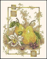 Dimensions 06942 Pears and orchid (160x200, 17Kb)