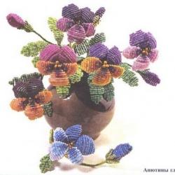 Цветы из бисера скачать бесплатные фотографии.
