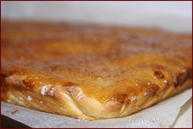 Творожный пирог с запечённым лимонным кремом