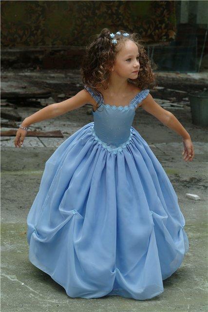 Выкройка детского вечернего платья.