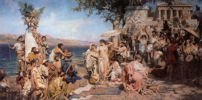 Фрина на празднике Посейдона в Элевсине 1889 ГРМ (700x347, 70Kb)