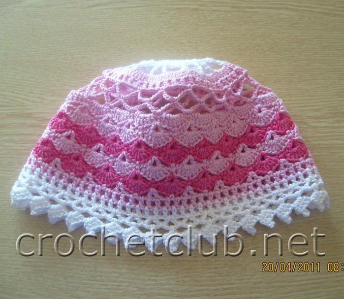 азбука вязания летние шапочки крючком для девочек подробная схема
