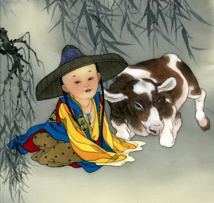 year of ox - boy - Cowherd's-Lullaby (700x664, 128Kb)