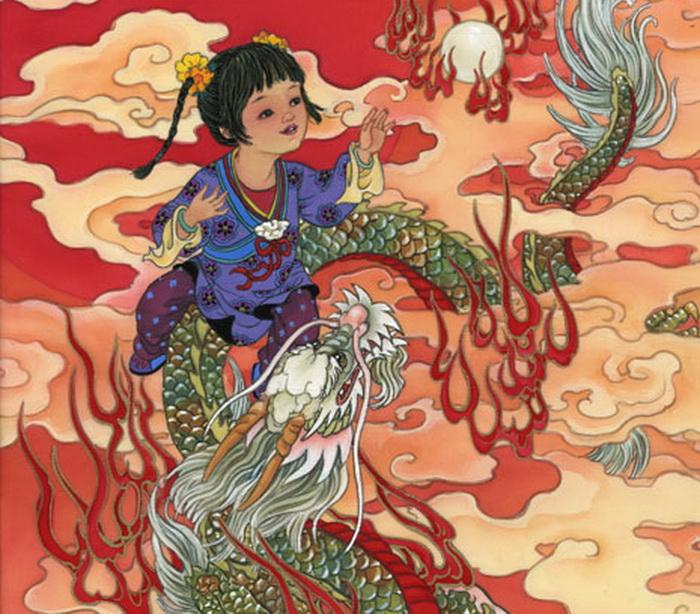 year of dragon - girl - dragon girl (700x614, 181Kb)