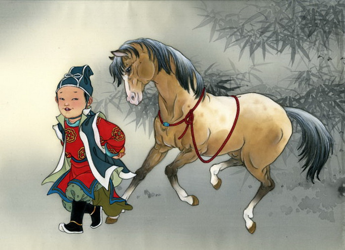 year of the horse - boy Follow-The-Apple (700x508, 107Kb)