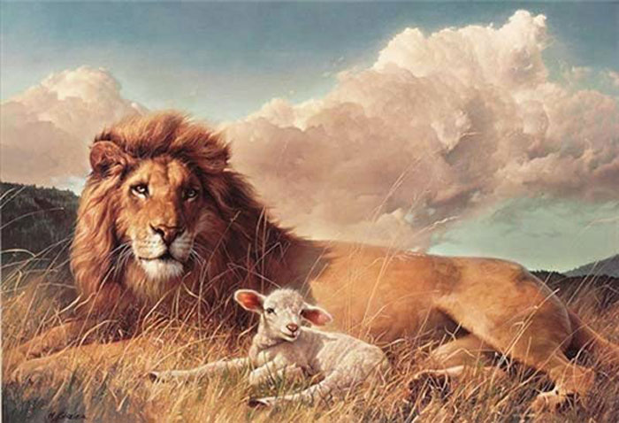 2010239_Nancy_Glazier_The_Lion_and_the_Lamb_(Peace_on_Earth) (700x478, 75Kb)