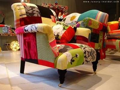 Мебель из лоскутков.
