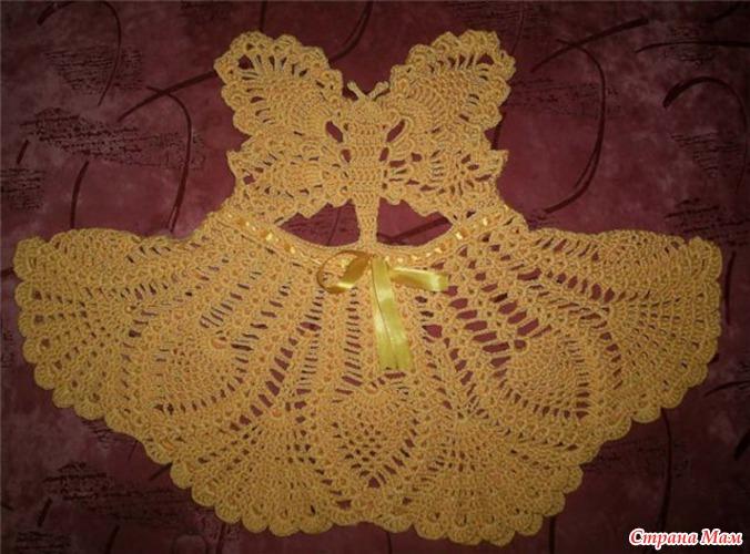 Сарафан-бабочка вяжут девочки в Стране мам. схема бабочки.
