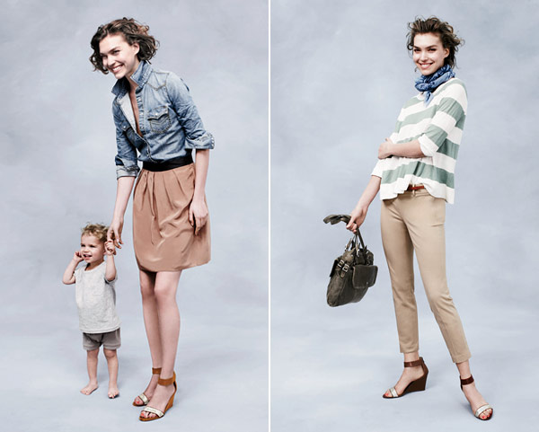 Arizona Muse and son pose for J Crew (600x481, 49Kb)
