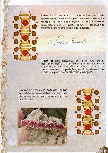 Схема плетения браслета из бисера и бусин.  Схемы и примеры изделий.