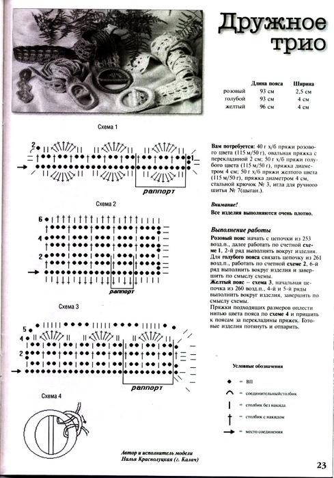 Read more.  Images for вязанные крючком пояса вязанные...