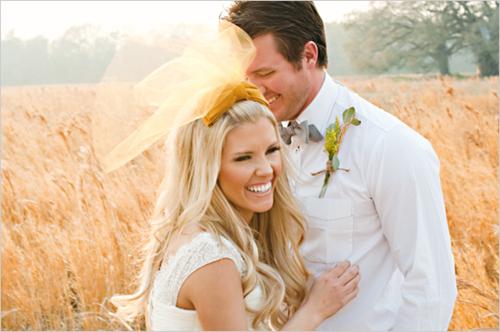 свадебная мода, свадебная тенденция, цветная фата.