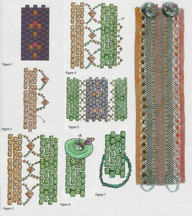 """ОтменитьВ разделе  """"Схемы """" представлены схемы плетения бисером."""