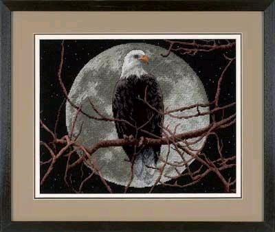Eagle in Moonlight (400x338, 29Kb)