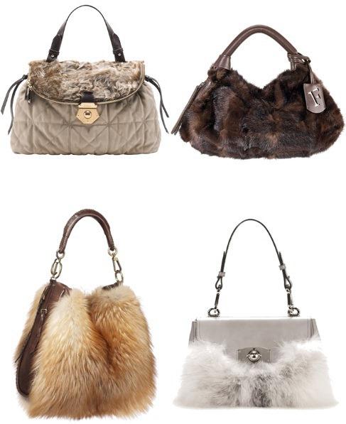 Актуальными также в 2011 году будут сумки из меха или.