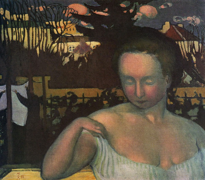 Морис Дени .PORTRAIT OF THE ARTIST'S WIFE. 1893 (700x613, 133Kb)
