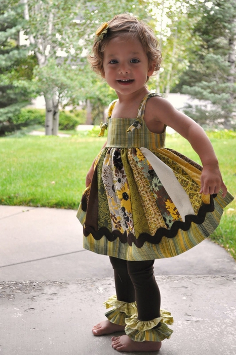 Шьем платье на новый год для девочки 6 лет.