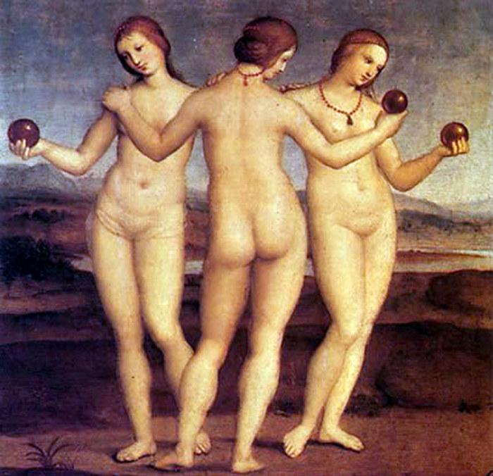 Три грации. Рафаэль, 1504 г.
