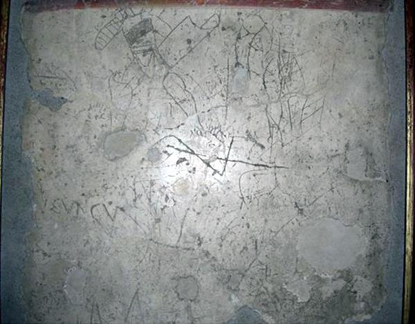 Фрагмент стены из лупанария. Помпеи