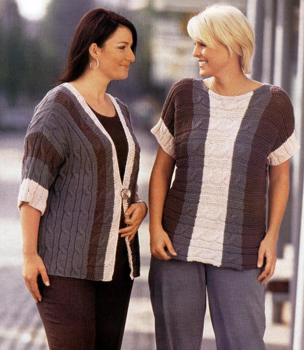 уроки вязания жилеты вязаные спицами для полных женщин