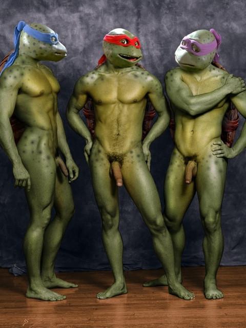 Naked girl ninja turtle — 12