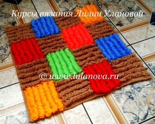 вязаные коврики крючком пошаговая инструкция для начинающих