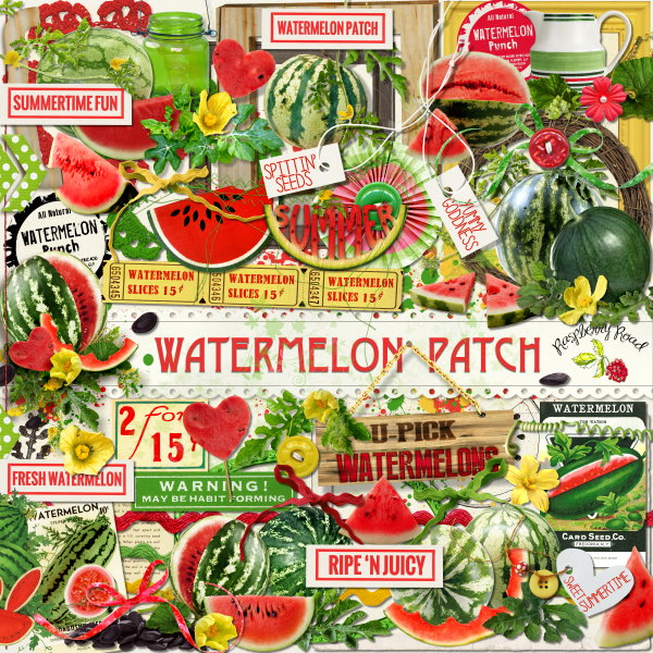 WatermelonPatch_Elements_Preview (600x600, 188Kb)