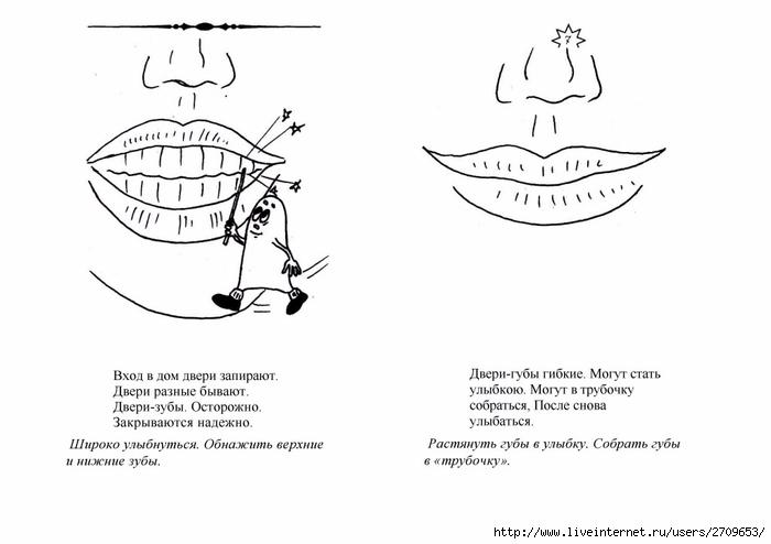 описание артикуляционная гимнастика в картинках с гномами исследования поврежденный участок