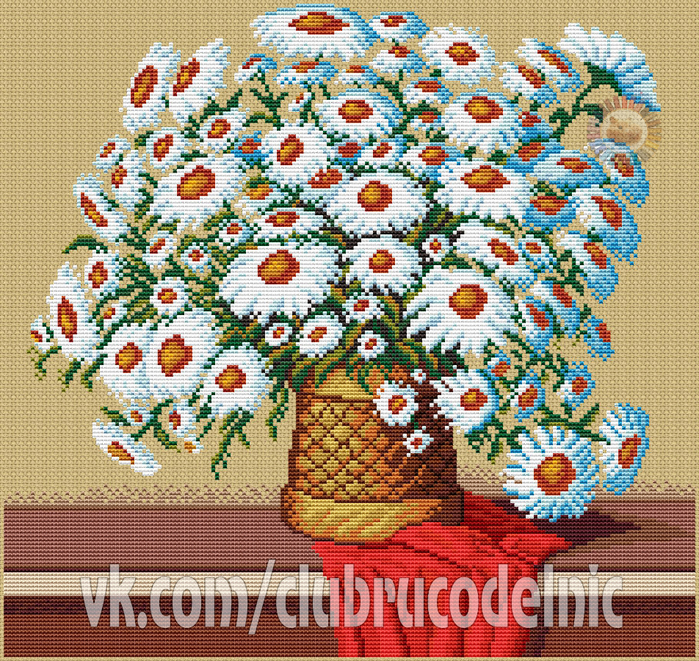 Bouquet of Camomiles (700x661, 874Kb)