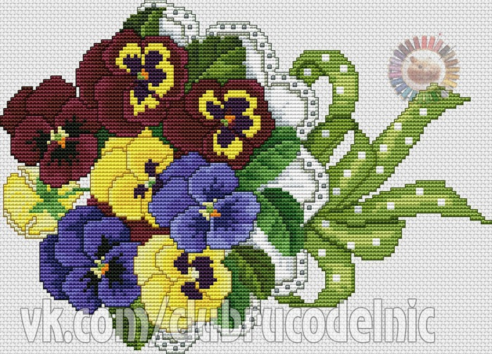 Pansy Bouquet (700x504, 214Kb)