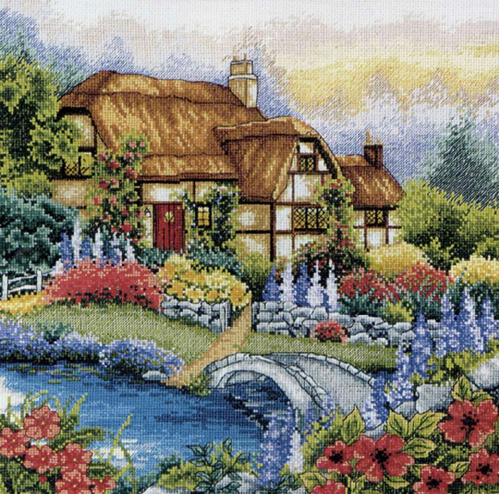 Stitchart-Waterbridge-Garden0 (700x693, 689Kb)